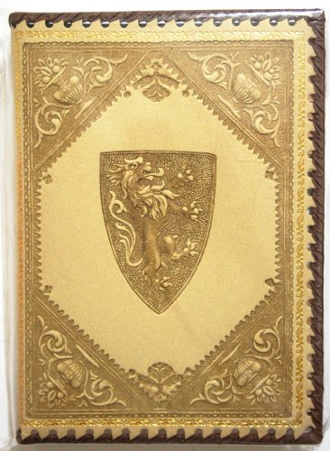 Italian Leather Journal MEDICI LION Blonde Color with Lion Engraving (Size 10.25