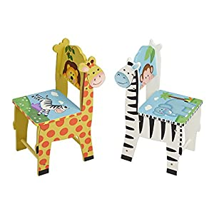 Fantasy Fields - Collection Wooden Table and 2 Chairs Set |Imagination Inspiring Hand Crafted & Hand Painted Details | Non-Toxic, Lead Free Water-based Paint