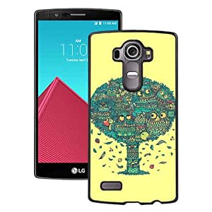 Unique And Durable Custom Designed Case For LG G4 With Cute Owl 1 Black Phone Case