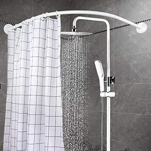 Amazon Com Yoloplus Curved Shower Rod Aluminum Alloy Wall Mount