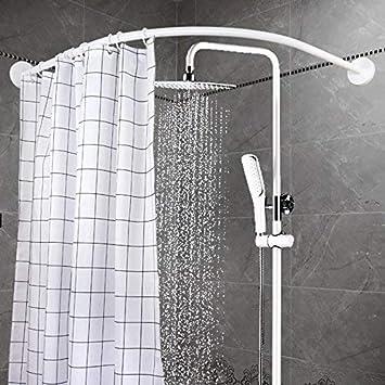 Amazon.com: YOLOPLUS Barra de cortina de ducha curvada: Home ...