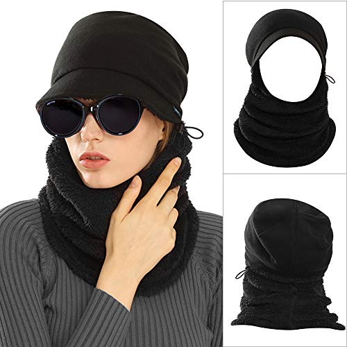 AblerV Balaclava Men Women Winter Hat Scarf Set Windproof Ski Mask Winter Warmer Protective Headgear Wind Resistant Cap, Ski Face Mask Hat Outdoor Sports Cycling Motorcycle - Rose