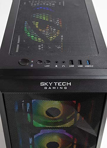 Skytech Chronos Gaming PC Desktop – AMD Ryzen 3 3100, NVIDIA GTX 1650 Super 4GB, 8GB DDR4, 500GB SSD, A320 Motherboard, 550 Watt Bronze 51bY9G LPUL