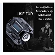 New Portable CREE XPE Q5 R2 LED Wrist Watch Flashlight Torch Light USB Charging Wrist Model Tactical Rechargeable Flashlight