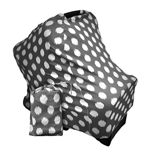 Baby Car Seat Canopy | Nursing Cover | Multi use 4-in-1| Str