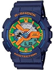 Casio Mens GA110FC-2A Blue Resin Quartz Watch with Green Dial
