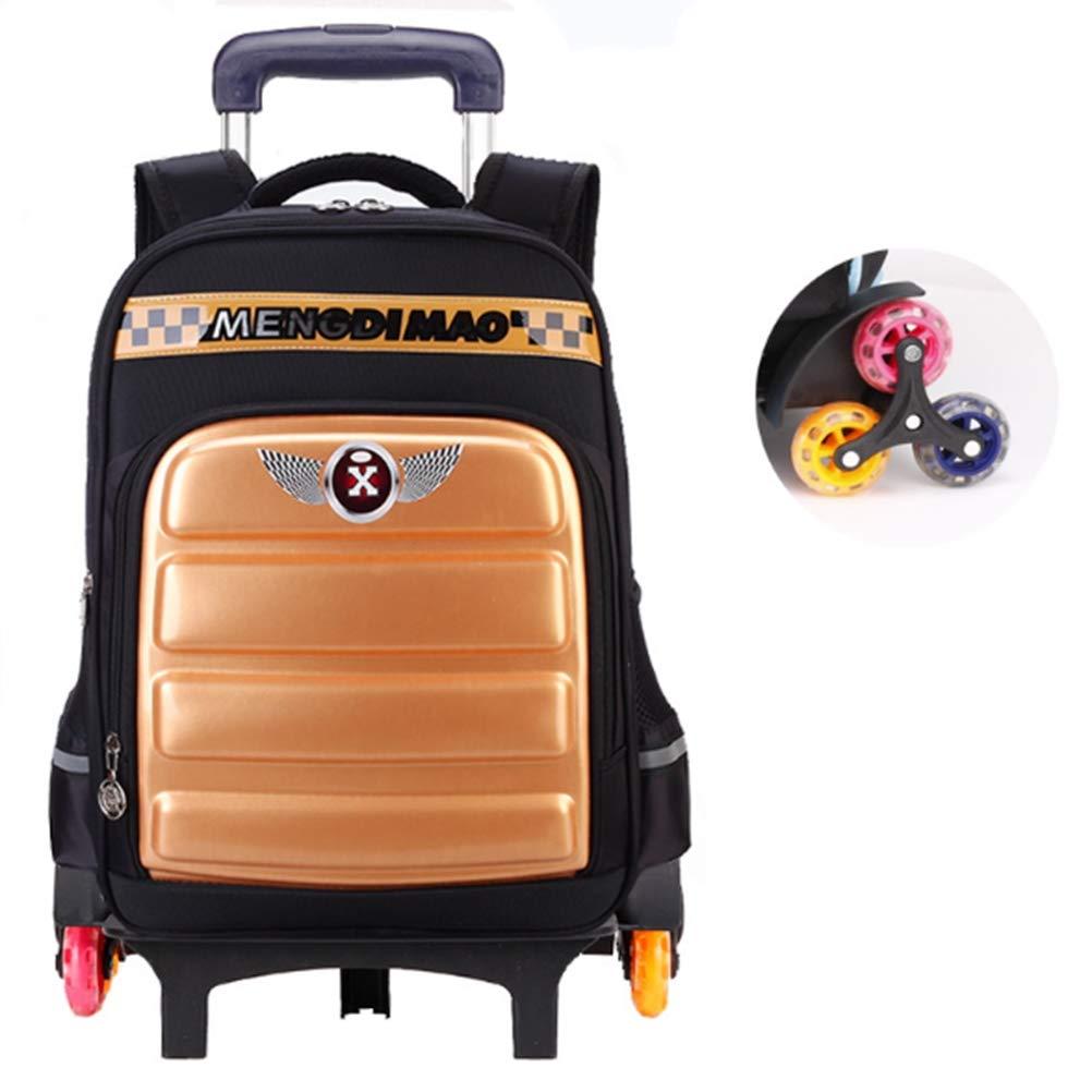 BYGenMai Schultrolley Schulranzen Kinder Trolley Rucksack mit 6 Rollen-Rolltasche für 6-13 Jahre alte Schüler,C
