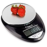 Ozeri Pro Digital Báscula de Cocina para Alimentos, 1gm a 12lb, Negro Elegante