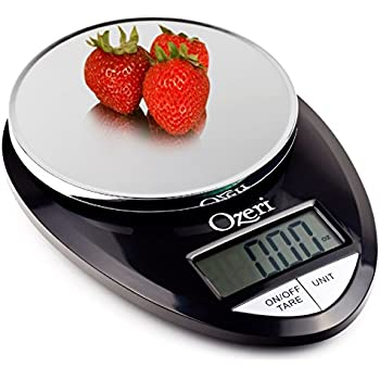 Ozeri Pro Digital Kitchen Food Scale, 1g to 12 lbs Capacity, in Stylish Black