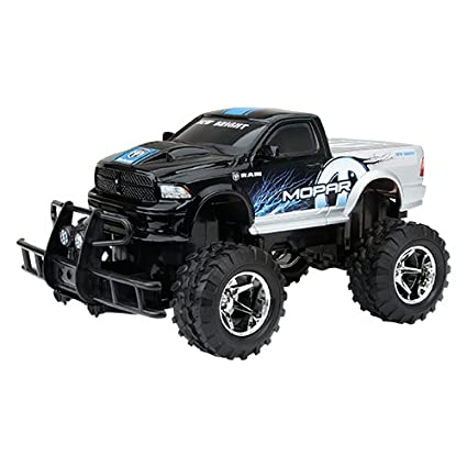 f7f0ebfe792 Amazon.com: New Bright 1:15 R/C MOPAR Dodge Ram Off-Road Vehicle w/ Full  Function Radio Control - Blue/Silver/Black: Toys & Games