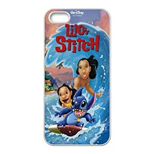 [bestdisigncase] For Apple Iphone 5 5S -Lilo and Stitch - Ohana PHONE CASE 6