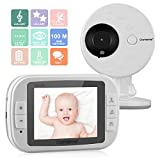 Cheap CityMama 3.5″ Wireless Video Baby Monitor with LCD Display Digital Camera Infrared Night Vision Two Way Talk Back Temperature Sensor Lullabies Including Corner Shelf