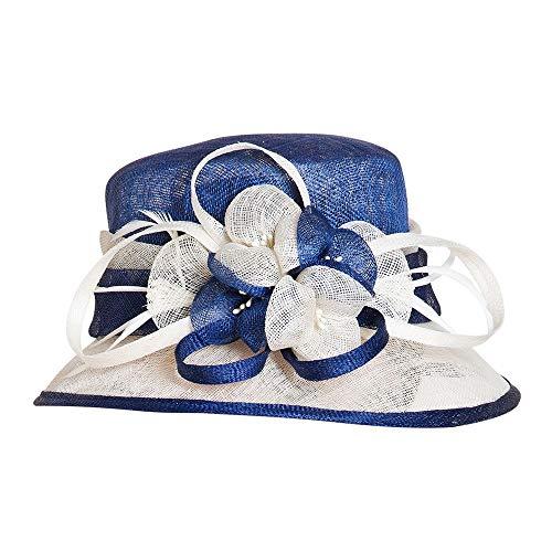 Summer Sun Hat Beach Hat Wedding hat,Hemp hat Flower hit Color Linen hat Stylish Elegant Aristocratic Woman Banquet hat,A