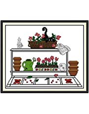Cross Stitch Embroidery Kits for Adults Kids, WOWDECOR Cats Christmas Animals Dogs Funny 11CT Stamped DIY DMC Needlework Easy Beginners
