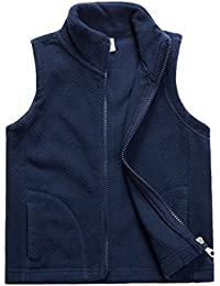 Little Boys Fleece Vest Pocket Zipper