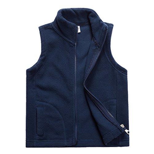 - Sooxiwood Little Boys Fleece Vest Pocket Zipper Size 5 Navy