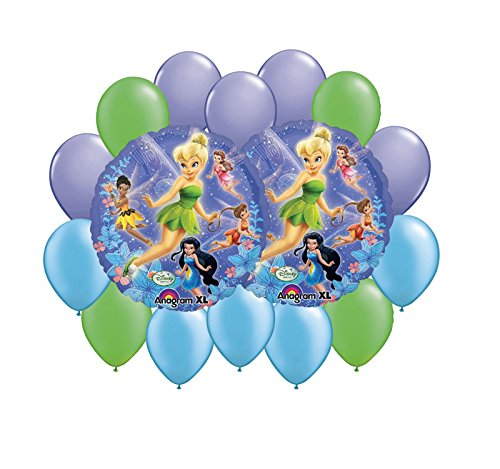 Tinkerbell & Fairies Balloon Bouquet 16pc