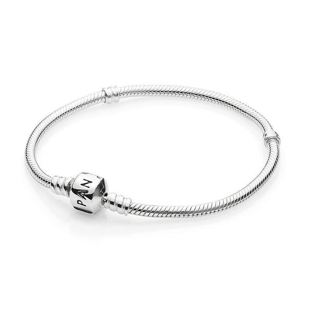 PANDORA Women's Standard 925 Sterling Silver Bead Clasp Charm Bracelet 590702HV (17) by PANDORA