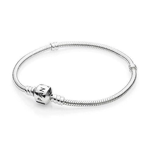dc55d7cb8060 PANDORA Women  39 s Standard 925 Sterling Silver Bead Clasp Charm Bracelet  590702HV