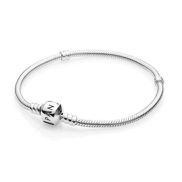 e6faefb804b3 PANDORA Women s Standard 925 Sterling Silver Bead Clasp Charm Bracelet  590702HV  Amazon.es  Joyería
