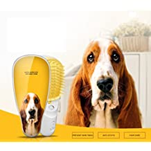 Lenmo Pet Ionic Brush Ceramic Hair Straightener Brush Pet Grooming Combs and Brushes