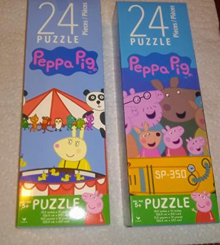 Pig Piece 10 (2 Peppa Pig Puzzle Puzzles 24 Pieces Each 10