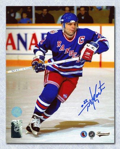 Mike Gartner New York Rangers Autographed 8x10 Captain Photo at ... d689b5152