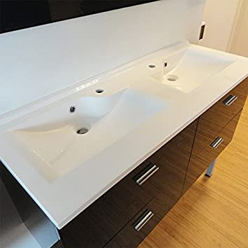 Plan vasque double prof 46 LAGUNE 140 cm Amazon Bricolage