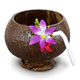 Coconut Cup (flower and straw included) Party Accessory  (1 count) (1/Pkg), Health Care Stuffs