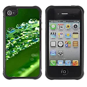 "Hypernova Defender Series TPU protection Cas Case Coque pour Apple iPhone 4 / iPhone 4S [Verde Agua Hoja Gota""]"