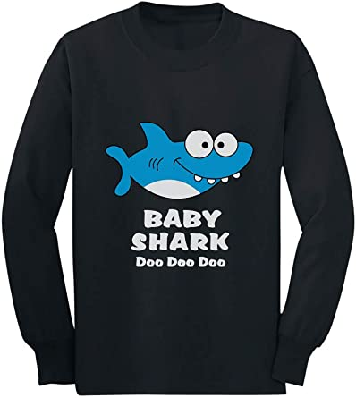 BABY SHARK DANCE BABY GROW VEST PRESENT GIFT FUNNY BOY GIRL PINK BLUE BLACK