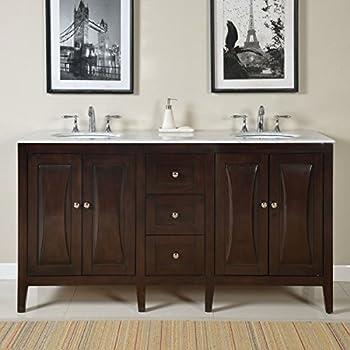 67 Quot Bathroom Vanity Cabinet Double Sink Marble Top 727