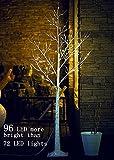 Fanshunlite 96LED 6Ft Lighted Birch Tree, Decoration Christmas, Home