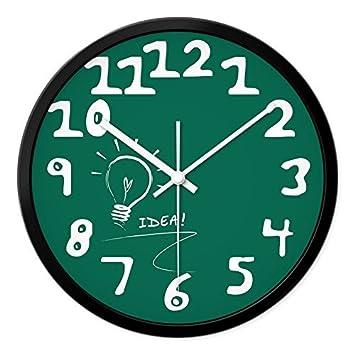 YHEGV Y Relojes Modernos Relojes Horarios Reloj de Pared del salón Paneles - tranquilamente lámpara históricos Pintados a Mano, 12 a la aduana, ...