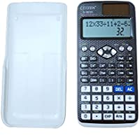 Scientific Calculator, Engineering Calculator Black, Function Science Calculator for Middle School Student, College Students and Engineers, 2-line Display