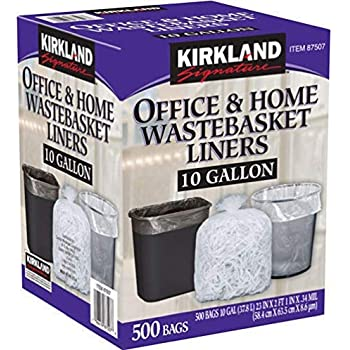 Amazon Com Kirkland Signature 10 Gallon Clear Wastebasket