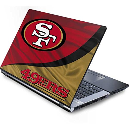 Skinit Decal Laptop Skin for Generic 15in Laptop (13.7in X 9.5in) - Officially Licensed NFL San Francisco 49ers Design (49ers Laptop Skin)