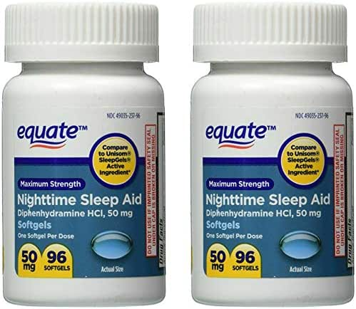 Sleep Aid 50 mg, Maximum Strength, 96 Softgels (Compare to Unisom) [2-Pack]