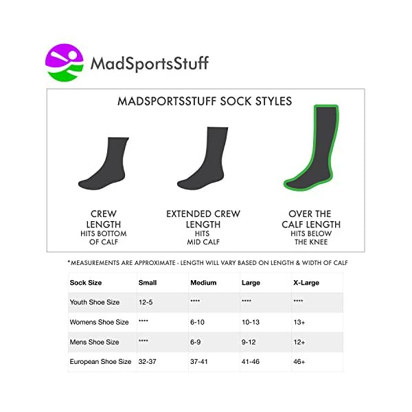 MadSportsStuff Neon Unicorn Socks Over The Calf 6