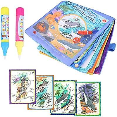 FLORMOON Libros de ba/ño para beb/és Educativo Impermeable Libros de pl/ástico para beb/és para ni/ños peque/ños beb/és ni/ños ni/ños y ni/ñas