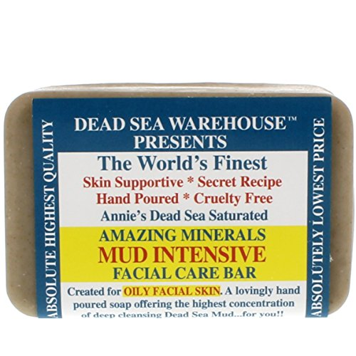 Dead Sea Warehouse - Amazing Minerals Mud Intensive Facial Care Bar, Hand Poured with the Highest Concentration of Deep Cleansing Dead Sea Mud, 5.2 - Warehouse Skin