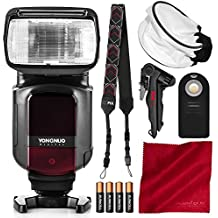 Yongnuo YN968N TTL Speedlite for Nikon Cameras with Flash Diffuser, Batteries, and Basic Photo Bundle