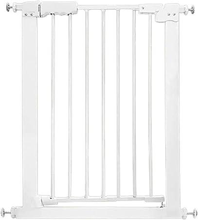 Puertas de bebé Puertas metálicas para bebés con Puerta de Acceso, Puerta para Perro de Mascotas con presión de Montaje con Puerta pequeña, Extra Mini 61-81cm, Blanco (Size : 61-71cm): Amazon.es: Hogar