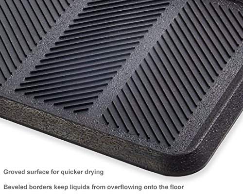 Rubber Boot Tray Shoe Organizer, Water Barrier, 16'' x 32''