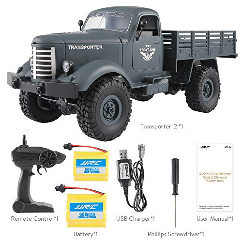 LIKESIDE JJRC Q61 RC 1:16 2.4G Remote Control 4WD Tracked Off-Road Military Truck Car RTR