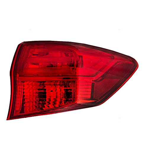 Passengers Taillight Tail Lamp Quarter Panel Mounted Lens Replacement for Acura 33500-TX4-A01