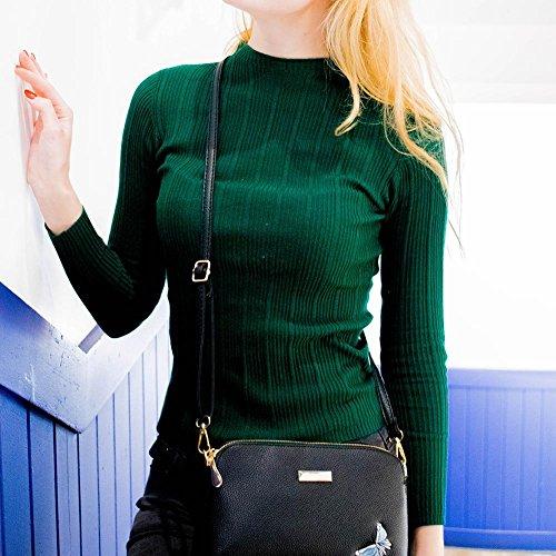Broderie Casual La Sac Noir Bandoulière Sacs PU Femmes Petite Main Cabina à Shell Messenger Fille Bag Crossbody à Sacs 5qxwqvrR