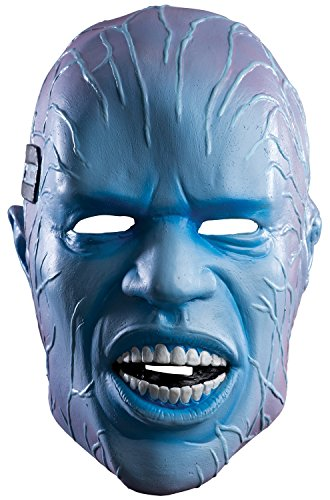 Rubie's Costume Men's The Amazing Spider-man 2 Adult Electro Overhead Deluxe Latex Mask, Multi, One (The Amazing Spider Man 2 Electro Costume)