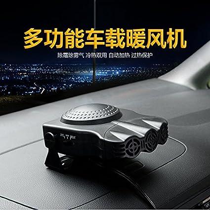 Queta 12 V Auto riscaldatore Riscaldamento sbrinamento Snow Defogger con Tre Fori Machine 150 W2 Colore Nero Nero