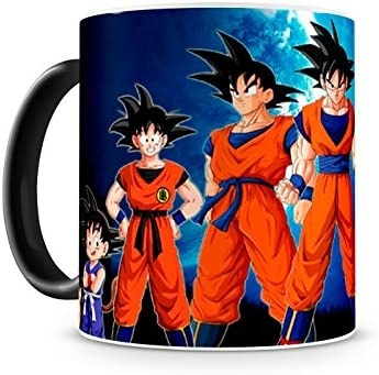 Caneca Mágica Dragon Ball Goku Evolution